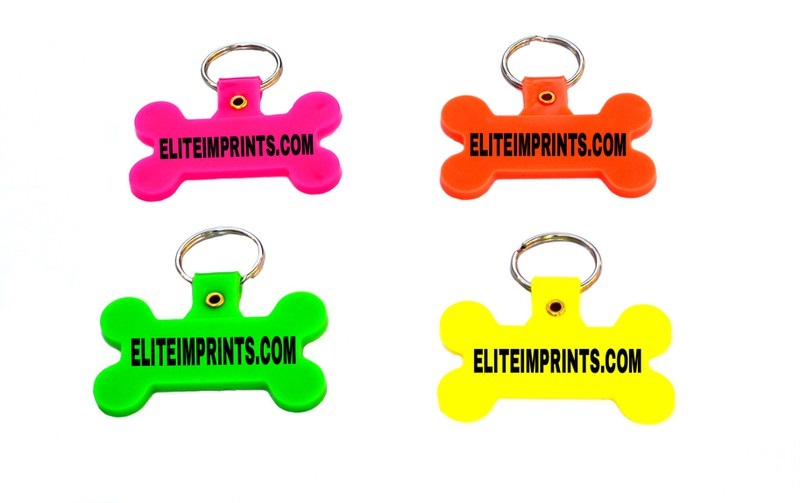 DOG BONE NEON KEY CHAINS